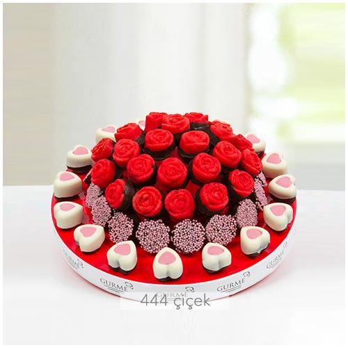 Aşık Kalpler Kek Buketi