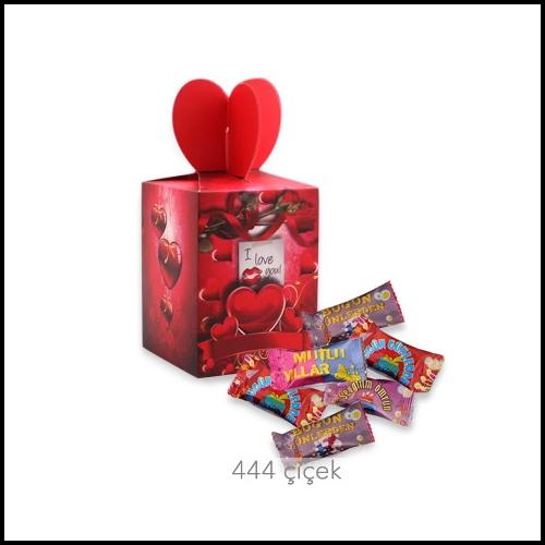 Aşk Mesajlı Şeker Kutusu
