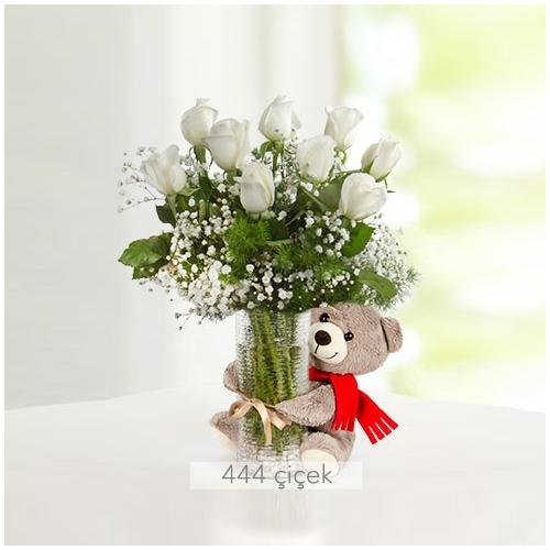 Bembeyaz Mutluluk Beyaz Güller